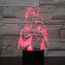 3D Nachtlicht HokageUsb 3D LED Nachtlicht Gaara