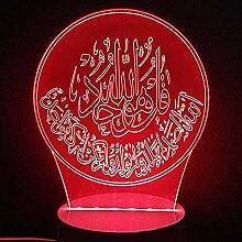 3D Nachtlicht - Islamischer Koran 3D