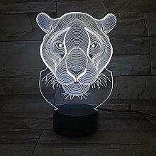 3D Nachtlicht Kinder Lampe 3D Lion Nachtlicht