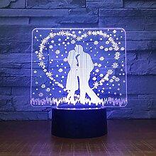 3D Nachtlicht Kreative Nacht 3D Lampensteuerung