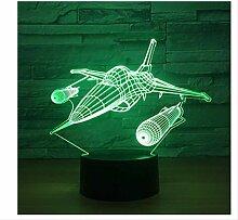 3D Nachtlicht Kriegsflugzeug Flugzeuge 3D
