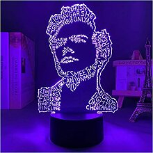 3D Nachtlicht Lampe Fan Geschenk Schlafzimmer