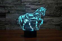 3d Nachtlicht Lampe,Farbveränderbare Touch Sensor