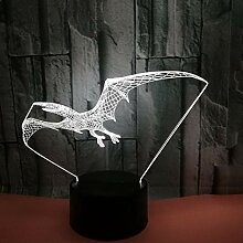 3D Nachtlicht Lampe Illusion 7 Farben Kinder Led