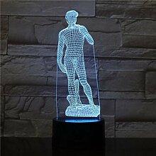 3D Nachtlicht LED Nachtlicht Skulptur Figur