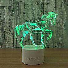 3D Nachtlicht Led Pferd Acryl 3D Nachtlichter