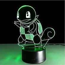 3D Nachtlicht LED Squirtle Tischlampe Stereo