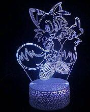 3D Nachtlicht LED Symphony Light Seven Color Touch