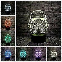 3D Nachtlicht mit Fernbedienung 3D Lampe Star Wars