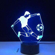 3D Nachtlicht mit Fernbedienung Bunte Football
