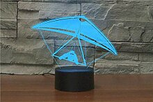 3D Nachtlicht mit Fernbedienung Hängegleiter