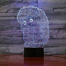 3D Nachtlicht mit Fernbedienung Igel Baby
