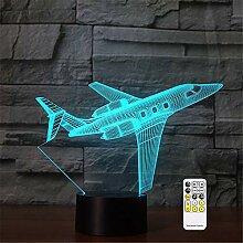 3D-Nachtlicht mit optischer Illusion,
