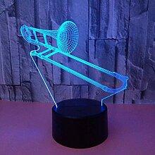 3D Nachtlicht Musikinstrumente Bunte 3D Lampe