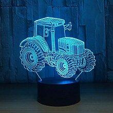 3D Nachtlicht Nachtlampe Schlaflicht Farm Traktor