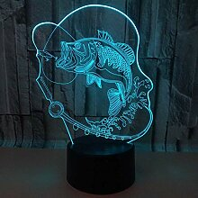 3D Nachtlicht Nachtlampe Schlaflicht Karpfen 3D