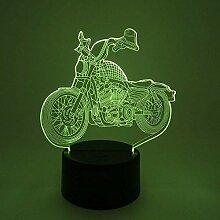 3D Nachtlicht Nachtlampe Schlaflicht Motorrad 3D