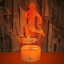 3D Nachtlicht Neue fernbedienung 3d lampe kreative