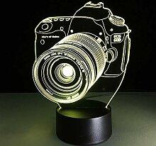 3D Nachtlicht Neuheit 3d lampe kamera illusion