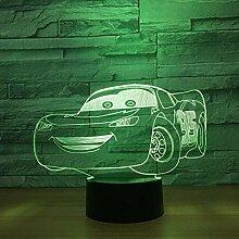 3D -Nachtlicht New Traktor -Lampe 7 Farbe