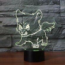 3D Nachtlicht Niedliche Wolfswelpen Led 3D