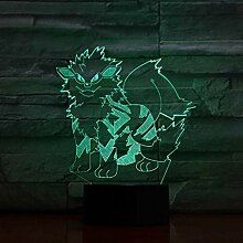 3D Nachtlicht Pokemon 3D Nacht Lampe Led Sensor