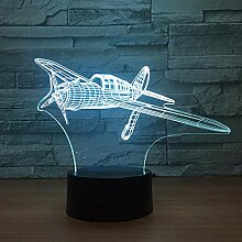 3D Nachtlicht Propellerflugzeuge 3D Led Lampe 7