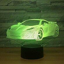 3D Nachtlicht Rennwagen Coupé Doppeltüren