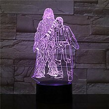 3D Nachtlicht Star Wars 3D Led Nachtlicht Touch