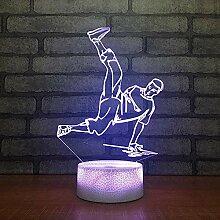 3D Nachtlicht Tänzer 3D Illusion Lampe Breaking