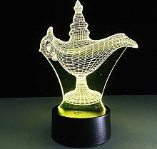 3D Nachtlicht Tischlampe Mit Fernbedienung