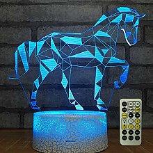 3D-Nachtlicht, Tischlampe, mit Fernbedienung,