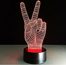 3D Nachtlicht Tragbare Lampe Hand Form usb