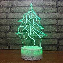 3D Nachtlicht Weihnachtsbaum 3d Lampe Nachttisch