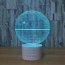 3D Nachtlichter Bluetooth Lautsprecher Musik Lampe
