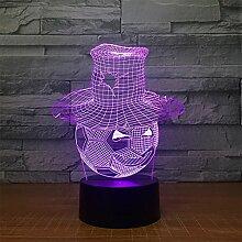 3D Nachtlichter für Kinder, Kinder 3D-Lampe, Spielzeug für Jungen, 7 LED-Farben ändern mit Fernbedienung Remoter Beleuchtung Tisch Schreibtisch Schlafzimmer Dekoration Ideen Geburtstagsgeschenk