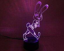 3D niedliche Schreibtischlampe Kindertagsgeschenk