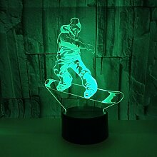 3D Optical Illusion Lampe 7 Farben Usb Touch