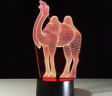 3D Optical Illusion Lampe Led Nachtlicht Kamel 3D