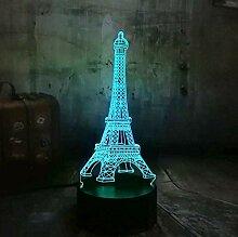 3D Optical Illusion Lampe Led Nachtlicht Liebe