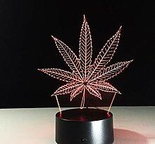 3D Optical Illusion Lampe Led Nachtlicht Maple
