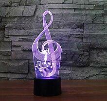 3D Optical Illusion Lampe Led Nachtlicht Musik