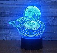 3D Optical Illusion Lampe Led Nachtlicht Star Wars