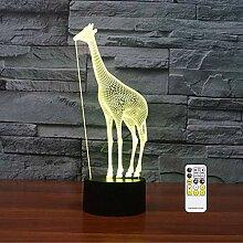 3D Optische Illusion Giraffe Nachtlicht Spielzeug