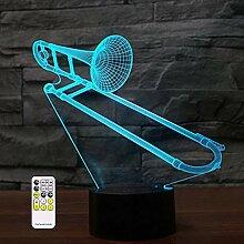3D Optische Illusion Saxphone Posaune Nachtlicht