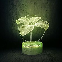 3D Optische Illusions Blume Lampe 7 Farben