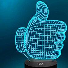 3D Optische Illusions Daumen hoch Lampe 7 Farben