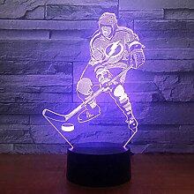 3D Optische Illusions Eishockey Spieler Lampe 7