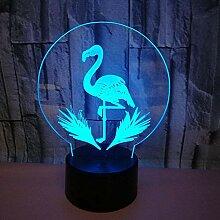 3D Optische Illusions Flamingo Lampe 7 Farben
