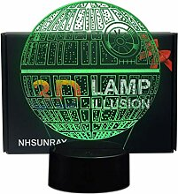 3D Optische Illusions-Lampen NHsunray LED 7 Farben